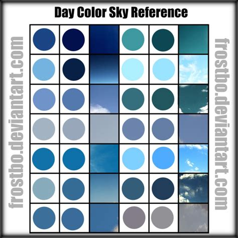 color reference day sky color reference by frostbo on deviantart