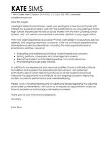 cover letter for family service worker best social services cover letter exles livecareer
