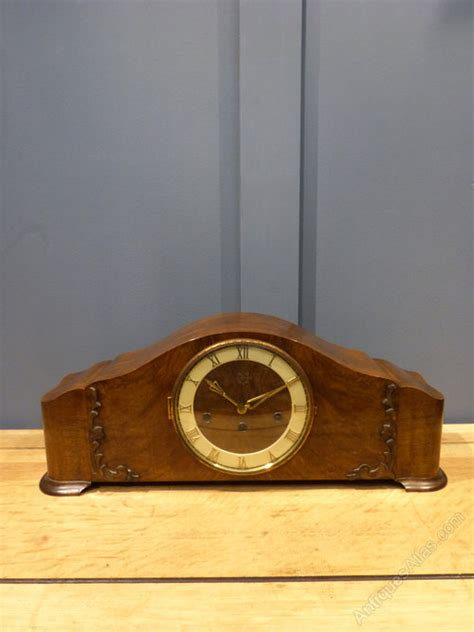 antiques atlas german walnut mantel clock