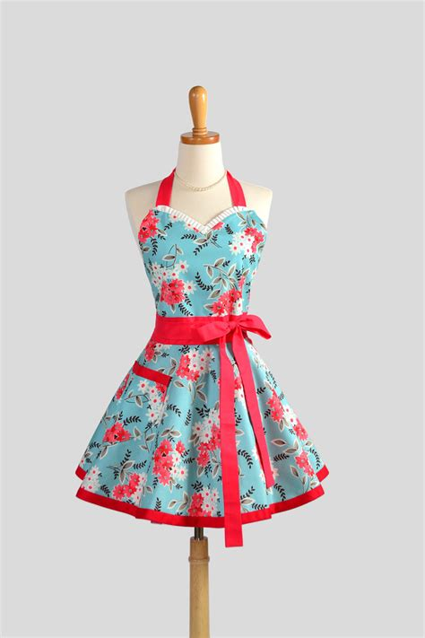 sweetheart retro apron flirty retro womens by creativechics
