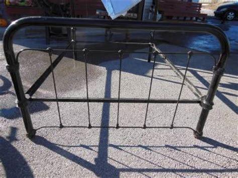 Antique Victorian Cast Iron Full Size Bed Frame Rails Art Black Cast Iron Bed Frame
