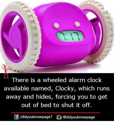 Clocky Alarm Clock Runs And Hides When You Dont Up by There Is A Wheeled Alarm Clock Available Named Clocky