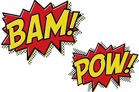 Kaos Batman Baam Best Quality bam pow message text