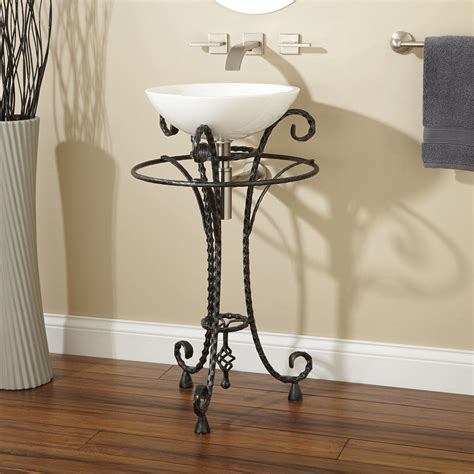 pedestal towel bar clear glass u shaped pedestal with towel bar bathroom