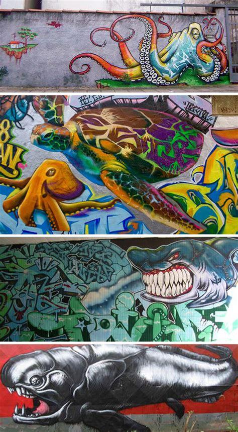 Shark Wall Murals deep art 23 examples of must sea ocean themed graffiti