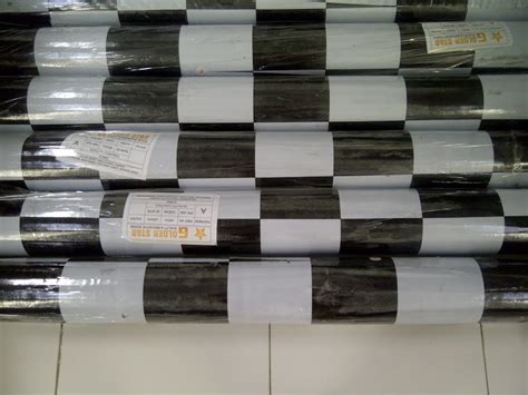 Karpet Plastik Motif Catur tikar
