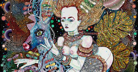 Del Kathryn Barton Artwork by Del Kathryn Barton S Whimsical Cosmos
