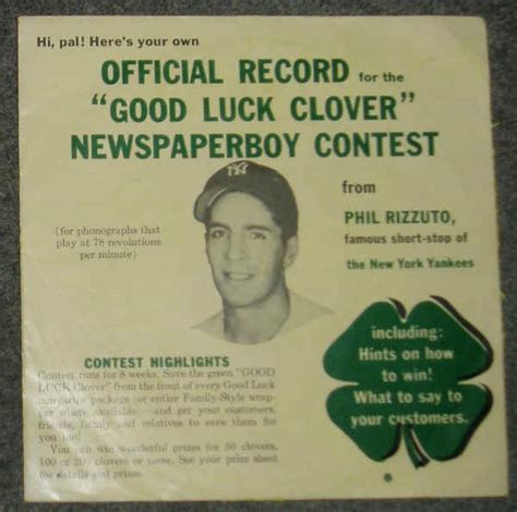 contest record phil rizzuto luck clover newspaperboy contest