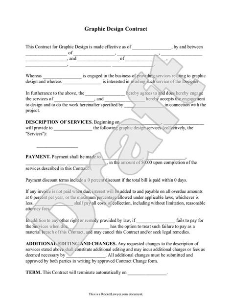 graphic design contract template make a doc for contracting to
