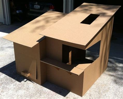 cardboard house diy cardboard box homes and towers for cats purrfect love