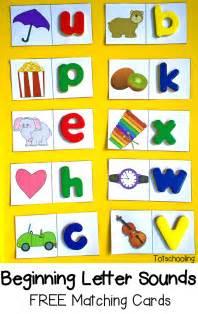 beginning letter sounds free matching cards