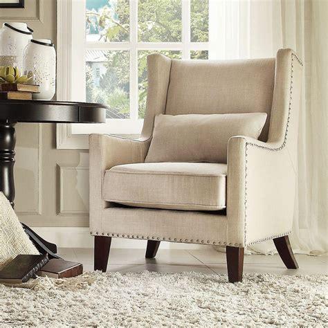 oatmeal linen wingback chair homesullivan oatmeal linen wing back arm chair