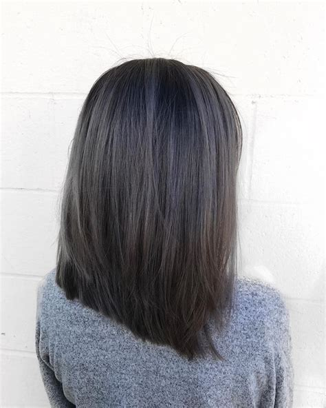 charcoal hair color best 25 ash grey hair ideas on grey brown