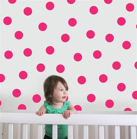 Polka Dot Stickers For Walls polka dot wall stickers by the little blue owl