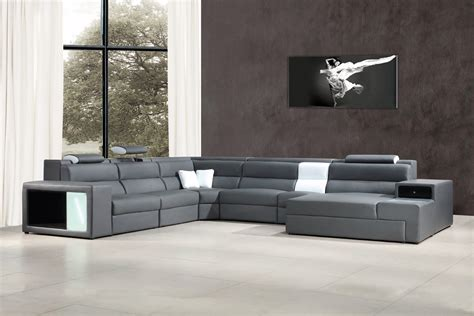 grey sofa sectional polaris grey bonded leather sectional sofa modern sofas