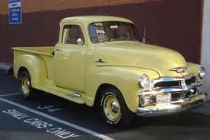 yellow chevy vintage trucks