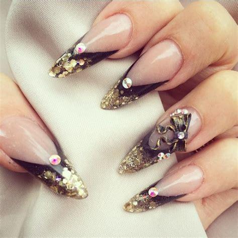 3d Gold Nail glamorous black and gold nail designs be modish