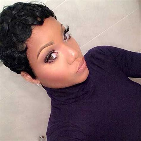 how to pin back hair on older women 20 short pixie haircuts for black women short hairstyles