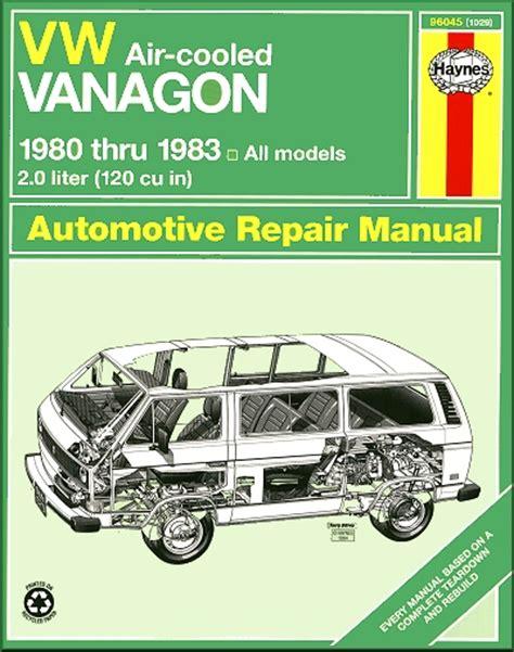 car repair manuals online pdf 1984 volkswagen vanagon free book repair manuals vw vanagon repair manual