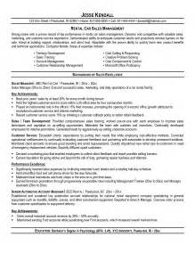 Used Car Sales Manager Sle Resume by Car Salesman Resume Free Resume Templates