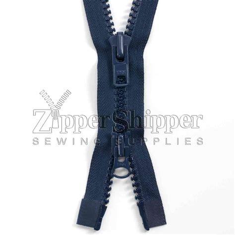 Jaket Anbu Zipper Navy Doubel Zipper 1 10 plastic heavy 2 way separating jacket zippers