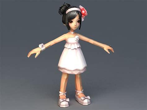 3d little girl pw little girl princess 3d model 3ds max autodesk fbx files