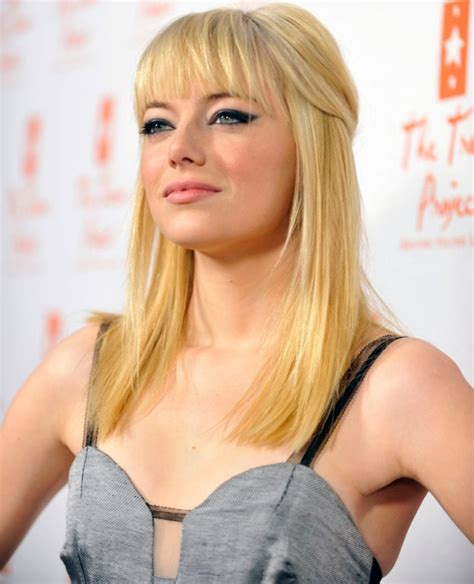 emma stone bangs blonde 2011 my new hair
