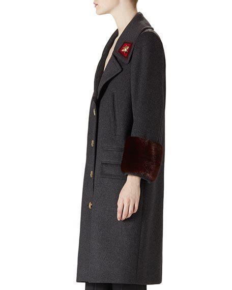 Gucci Overcoat gucci wool mink overcoat