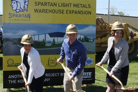 spartan light metal products spartan light metal products breaks ground the korte company