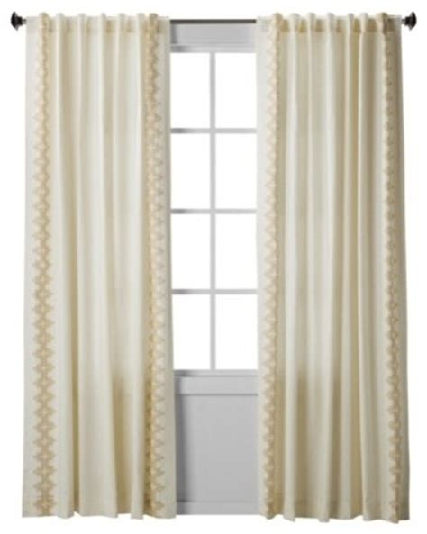 window curtains target nate berkus inca print window panel cream contemporary