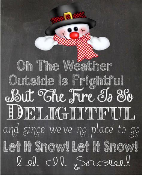 printable lyrics let it snow let it snow let it snow let it snow free printable