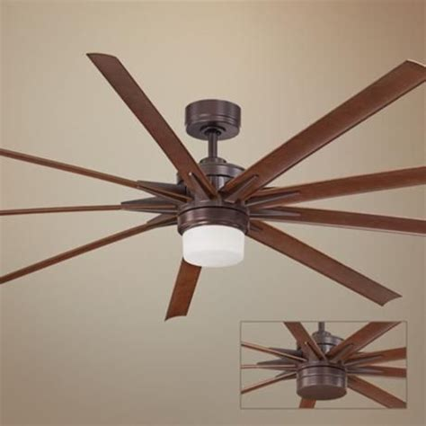 ceiling fan without light kit 84 quot fanimation odyn oil rubbed bronze led ceiling fan