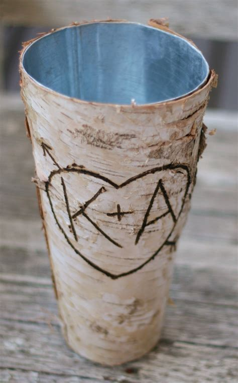 Personalized Vase by Personalized Birch Wood Vase House Decor Item By Braggingbags