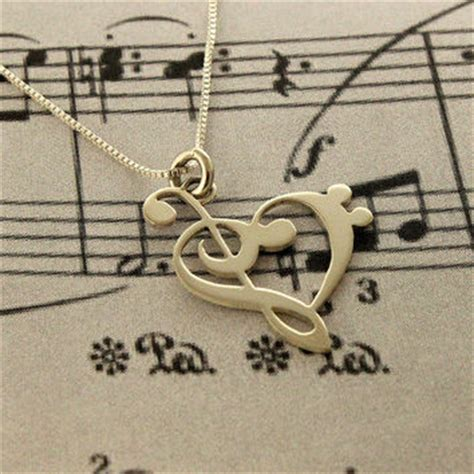 g clef bass clef necklace silver from silversmith925 inc