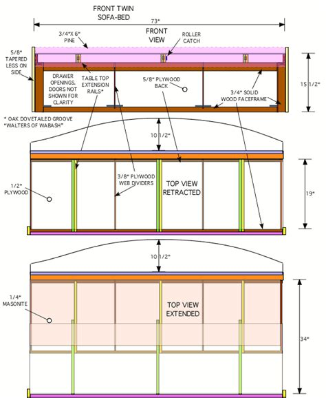 sofa plan wood couch plans pdf plans