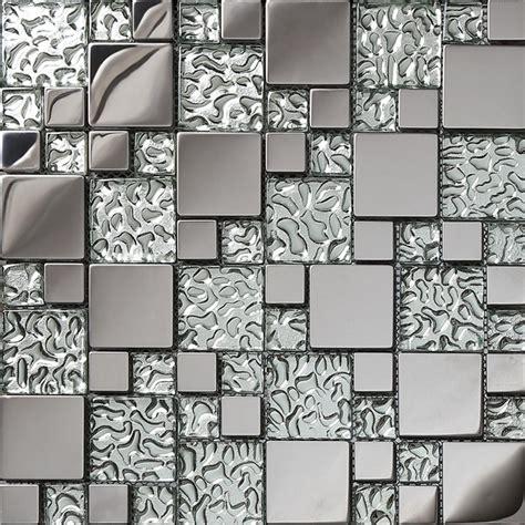 stainless steel mosaic tiles tv kitchen backsplash wall