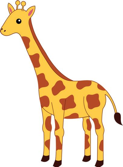 giraffe clip spotted yellow giraffe free clip