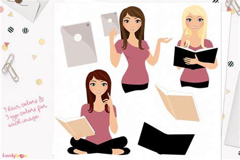 Zara E Gift Card Email - student girl character clipart zara l141 by lovelytocu thehungryjpeg com