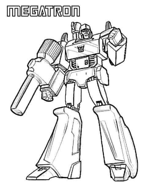 transformers megatron coloring page coloring book