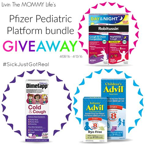 Pfizer Giveaway - how we prepare for any colds fevers coughs that come our way livin the mommy life