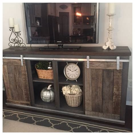 Sliding Barn Door Tv Stand White Best 25 Rustic Tv Stands Ideas On Pinterest Tv Stand