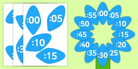 flower clock template analogue to digital clock label flower clock flower petals