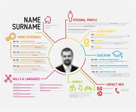 Best Visual Resume Templates visual resume templates 1214 best infographic visual