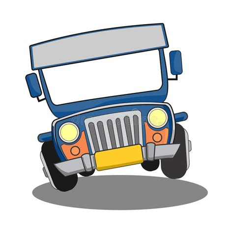philippine jeep drawing philippine jeepney stock illustration image