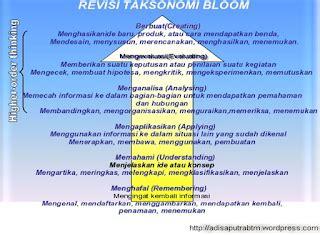 perubahan taksonomi bloom  pengembangan butir soal