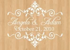 wedding floor decals wedding monogram by