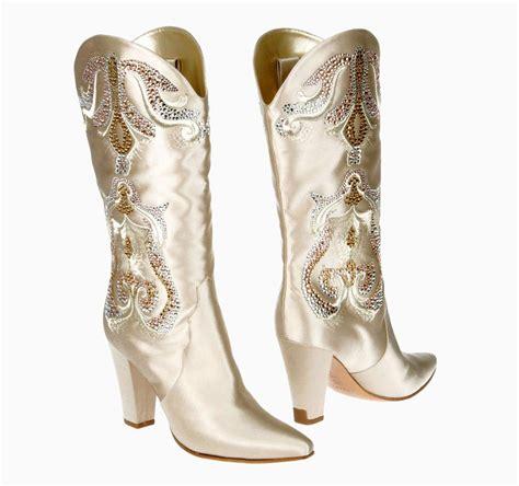 wedding cowboy boots new casadei wedding satin crystals cowboy western