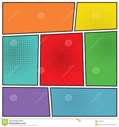 comics popart blank layout stock vector image 39800831