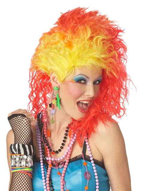1980s colors 1980s color cyndi lauper wig fancy dress