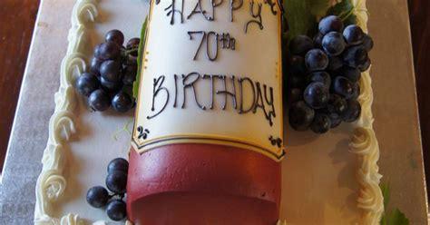 red wine bottle birthday cake  customized label  grapes  top  sheet cake sheet